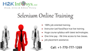 Selenium Online Training and Placement by H2KInfosys
