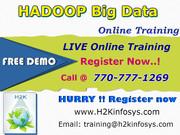 Hadoop Online Training Classes and Job Assistance