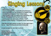 SINGING LESSONS in Sligo. Professional Lessons - SLS method.