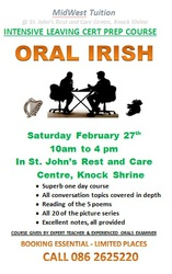 ORAL IRISH INTENSIVE ONE DAY COURSE FOR LEAVING CERT