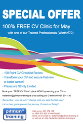 100% FREE CV Clinic with Pitman Training Waterford